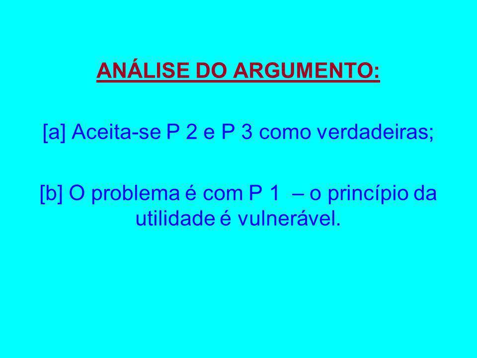 [a] Aceita-se P 2 e P 3 como verdadeiras;